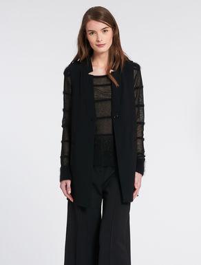 Flowing fabric maxi-waistcoat (vest)