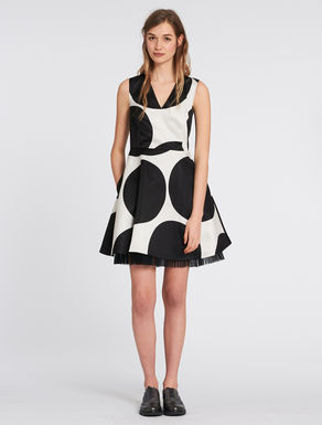 Maxi-polka dot duchesse dress