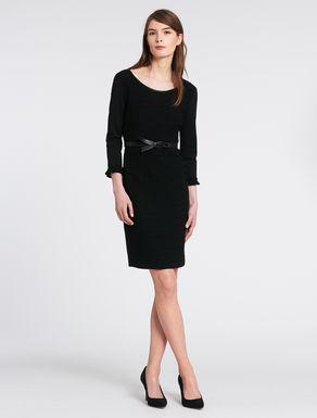 Dress with crochet texture