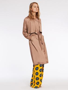 Floaty satin trench coat