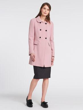 Crêpe de chine fabric coat