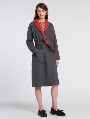 Double fabric coat
