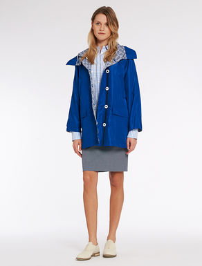 Reversible parka in technical fabric