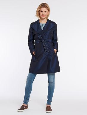 Trench coat in technical taffeta
