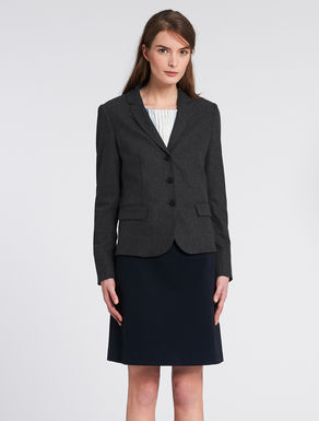 Stretch flannel slim-fit jacket