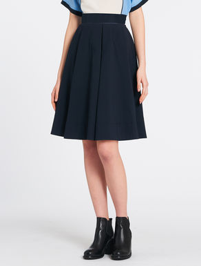 A-line double fabric skirt