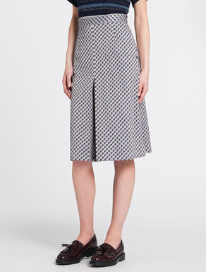 Geometrical jacquard A-line skirt