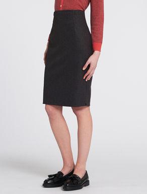 Flannel pencil skirt