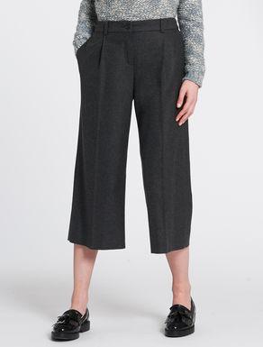 Flannel midi trousers