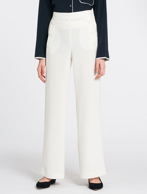 Flowing navy-style trousers