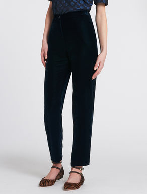 Panné velvet trousers
