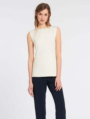 Ottoman knit shaved top