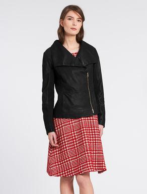 Slim-fit nappa jacket