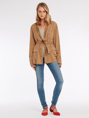 Floaty gabardine safari jacket
