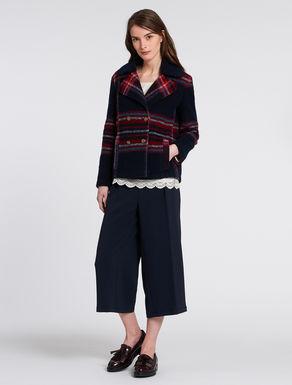 Caban in jersey lana cotta