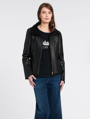 Glossy fabric jacket