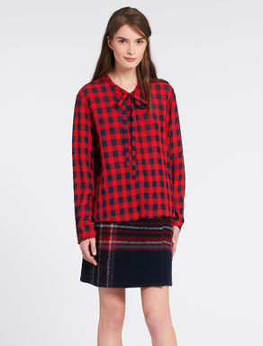 Vichy shirt with bow collar