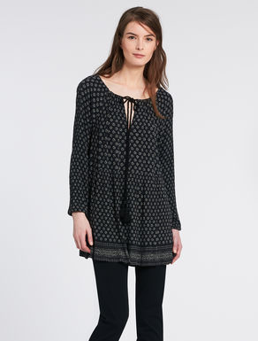 Blusa in crépon stampato