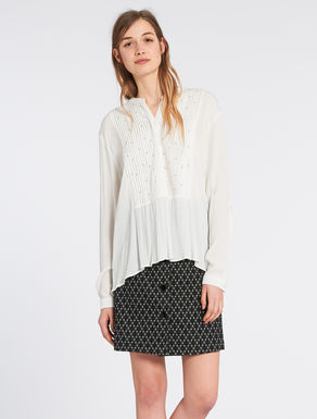Crépon shirt with sequins