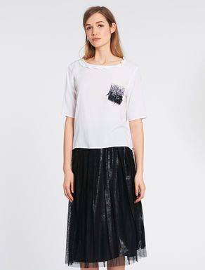 Top with sequins and gathers