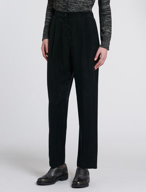 Flowing twill trousers