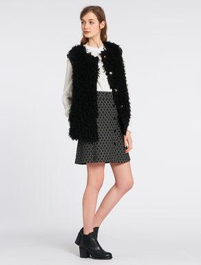 Furry fabric waistcoat