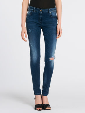 Skinny-fit stone wash jeans