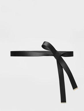 Leather ribbon belt