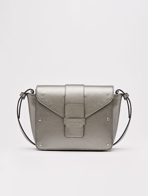 Shoulder bag with saffiano finish