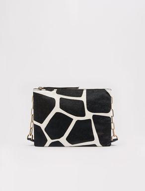 Shoulder strap bag with animalier pattern