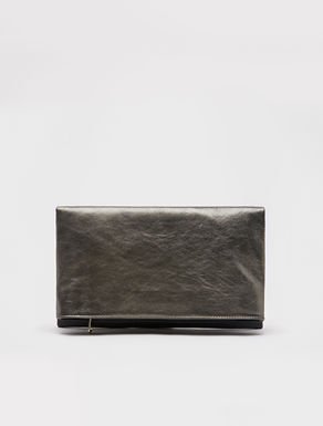 Flap clutch bag with chain