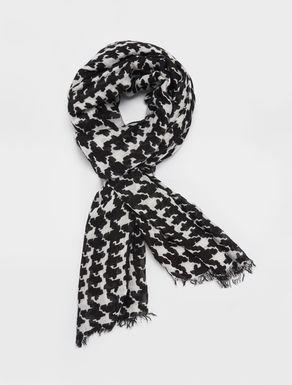 Printed soft gauzed scarf