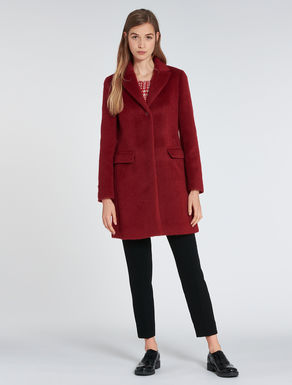 Slim-fit wool/mohair coat