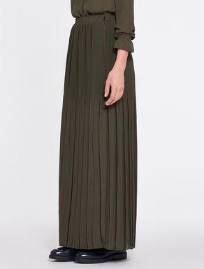 Long length skirt in pleated georgette