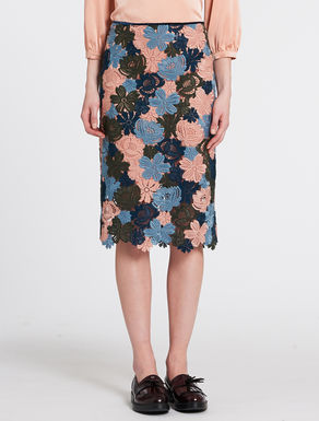 Macramé pencil skirt