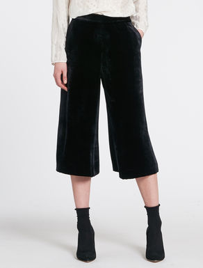 Culotte pants in velluto panné