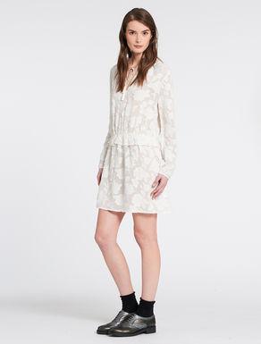 Fil coupé dress with pleats