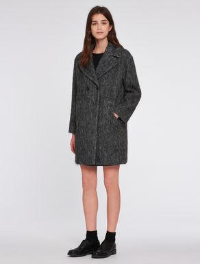 Alpaca/mohair blend coat
