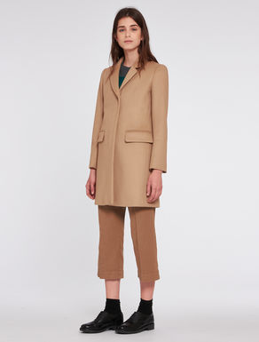 Slim-fit wool/cashmere coat