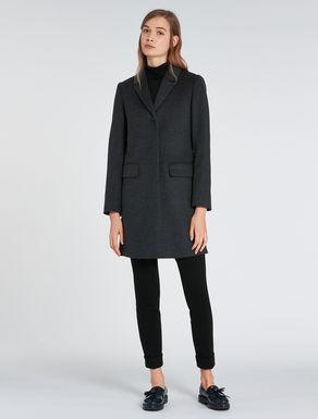 Slim-fit wool/cashmere coat