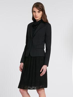 Slim-fit double fabric blazer