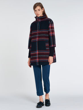 Maxi-checked jacket