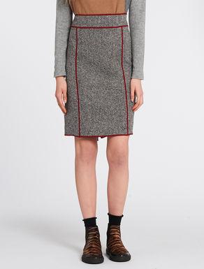 Double tweed pencil skirt