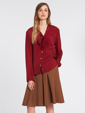 Twill shirt with bow