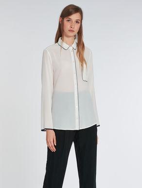 Silk shirt with profiles