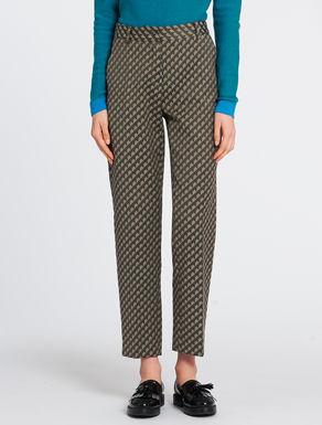 Jacquard slim-fit trousers
