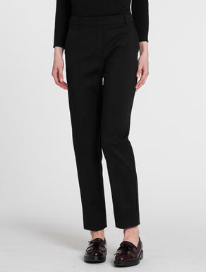 Double fabric slim-fit trousers