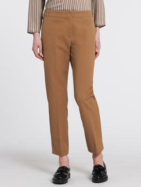 Gabardine slim-fit trousers