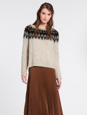 Mohair jacquard blend sweatshirt