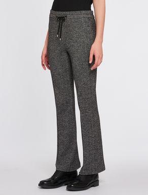 Chevron jersey trousers